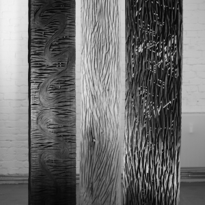 DREAM/WAY/MEMORY, wood, H 220 cm, 2010