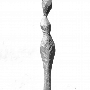 WOMAN WITH A LOOK TO SIDE, Robinia, H 100 cm, 2014
