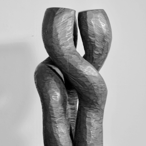 MOTION, robinia, magnets, steel H 69 cm, 2007