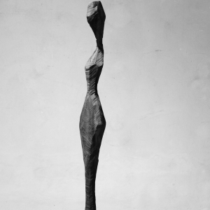 LA TICINESA, walnut wood, H 122 cm, 2016